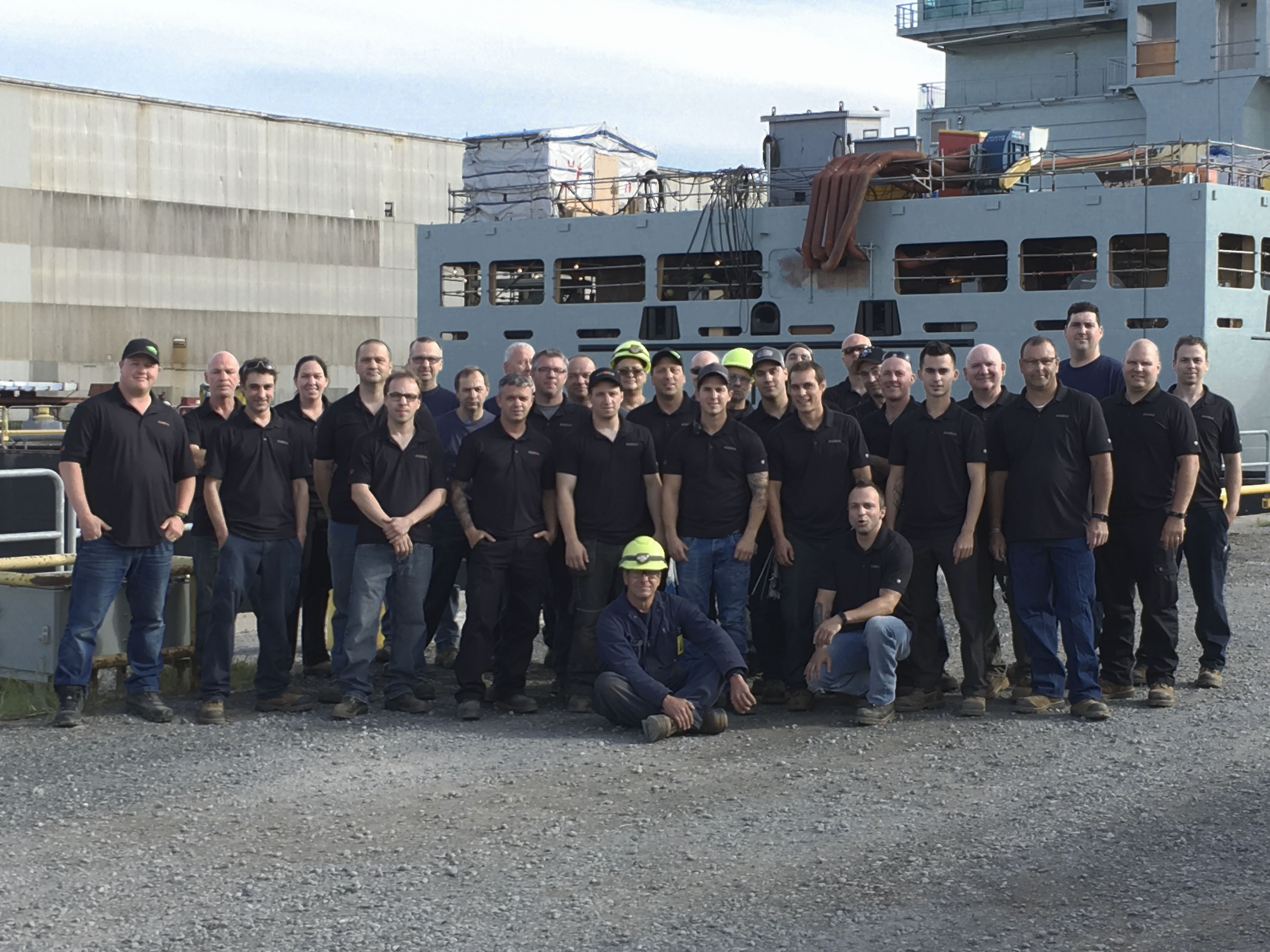 DAWCO congratulates its employees at the Davie shipyard