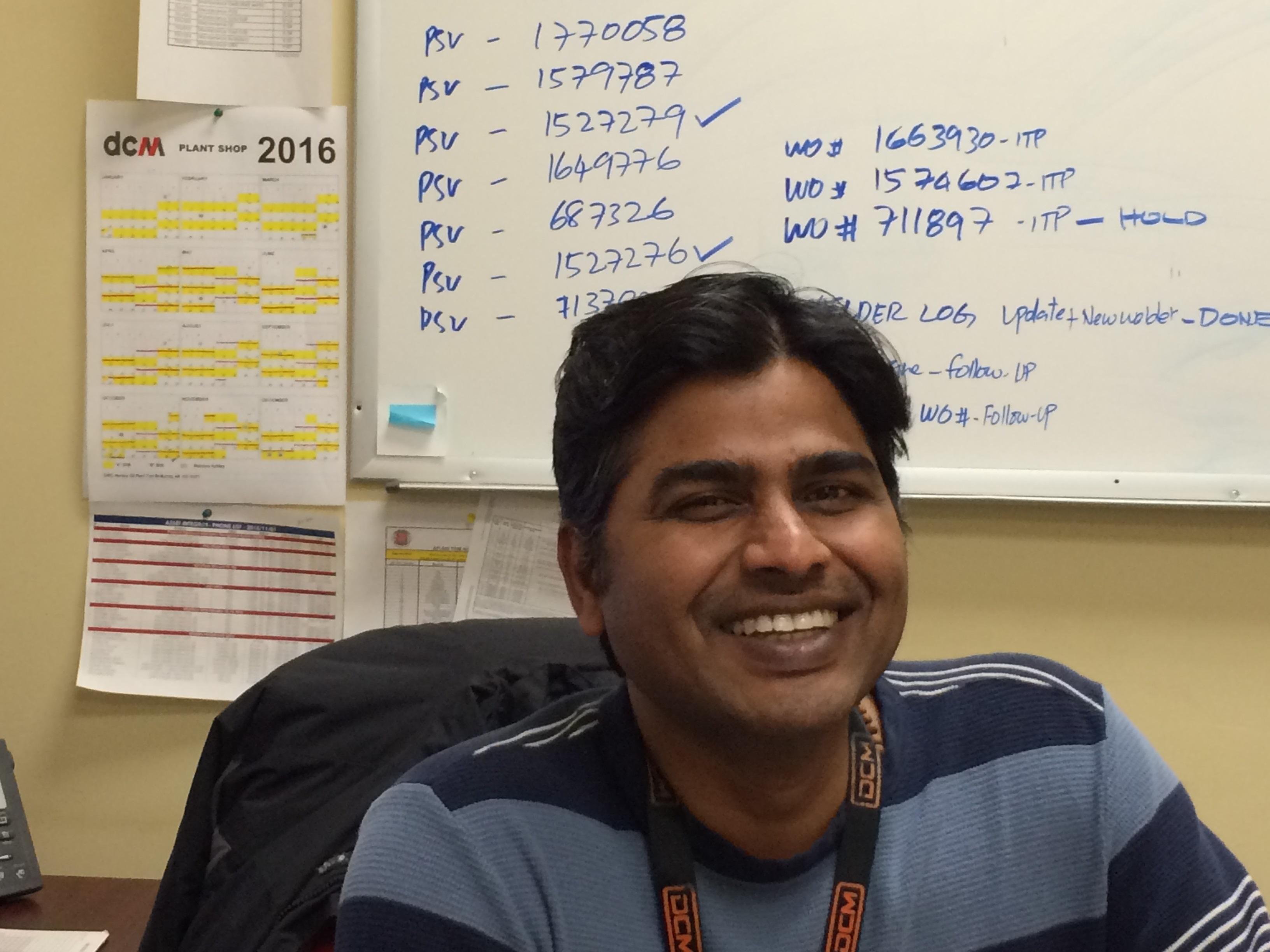 Gokul Ganesan successfully completes his ABSA Welder Examiner Paper 3
