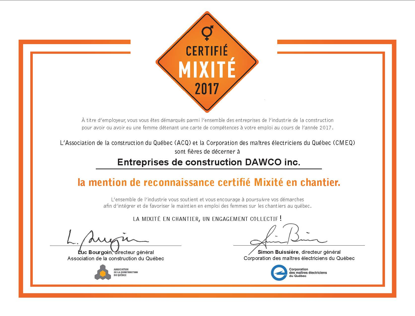 DAWCO stands in solidarity with women in the construction industry