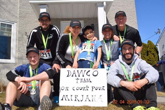 DAWCO employees run the Course de Laval de Champfleury