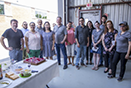 BBQ lunch celebrating employee birthdays and the dedication of one of the pillars of DCM Group